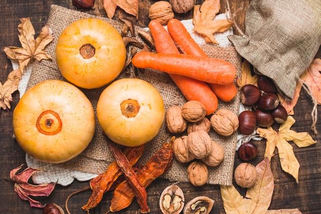 Piękny skład zbiorów jesienią Darmowe Zdjęcia