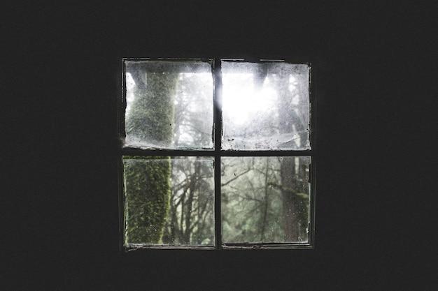 Piękny Strzał Stary Brudny Kabinowy Okno Darmowe Zdjęcia