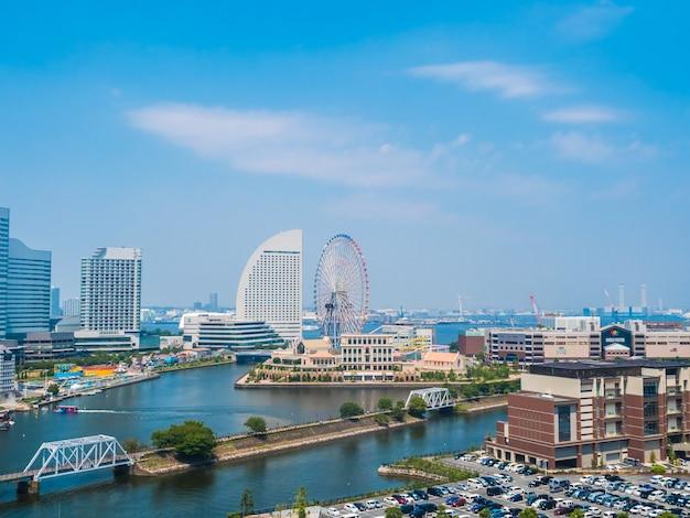 Piękny yokohama linii horyzontu miasto w japan Darmowe Zdjęcia