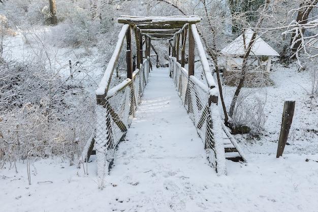 Piękny Zima Krajobraz Na Górze Premium Zdjęcia