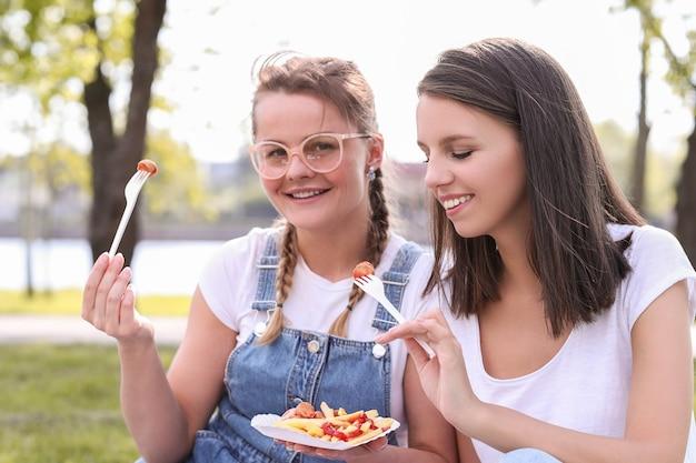 Piknik. Kobiety W Parku Darmowe Zdjęcia