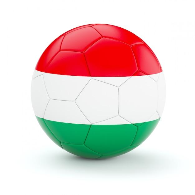 Piłka Nożna Piłka Z Flagą Węgier Premium Zdjęcia