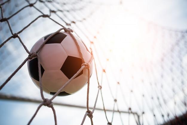 Piłka nożna w celu sukcesu koncepcji Darmowe Zdjęcia