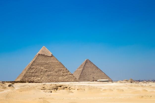 Piramidy Z Pięknym Niebem W Kairze, Egipt. Premium Zdjęcia