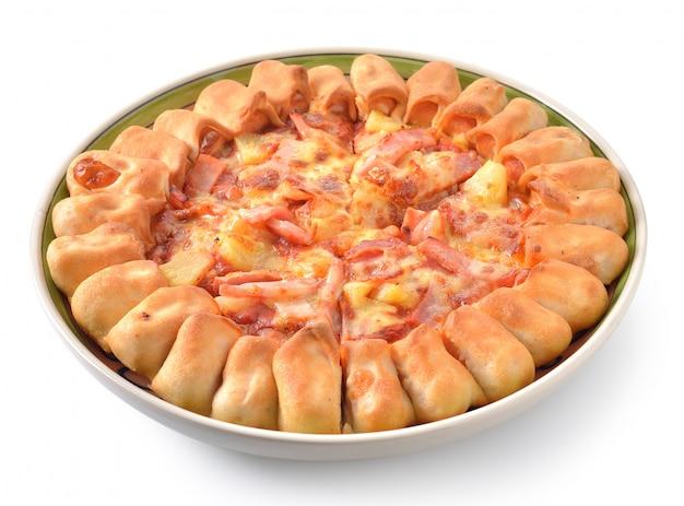 Pizza Na Białym Tle Premium Zdjęcia