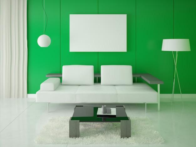 Plakat Hi-tech Z Zielonym Tłem Premium Zdjęcia