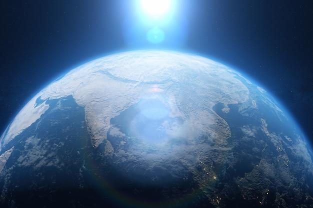 Planeta Ziemia Z Kosmosu Premium Zdjęcia