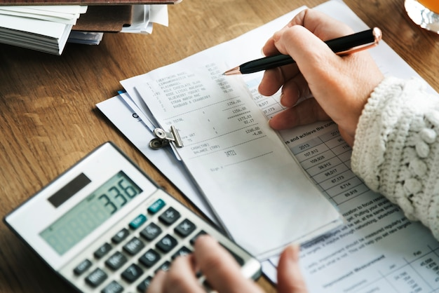 Planowanie budżetowe księgowość koncepcja rachunkowości Premium Zdjęcia