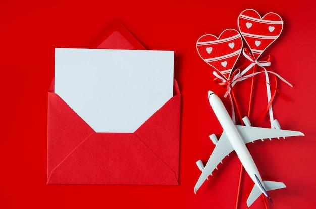 Planowanie Podróży Na Tle Walentynki Premium Zdjęcia