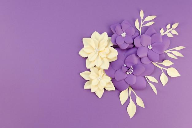Płaski Układ Kwiatowy Z Kopią Darmowe Zdjęcia