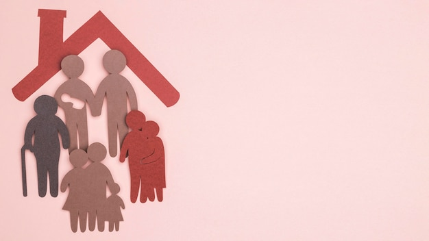 Płaski Układ Rodziny Piękny Dom Martwa Darmowe Zdjęcia