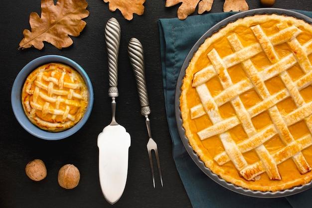 Płaskie Ciasto Dyniowe Na święto Dziękczynienia Darmowe Zdjęcia