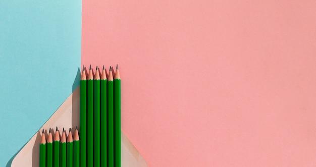 Płaskie Ołówki Z Kopią Darmowe Zdjęcia