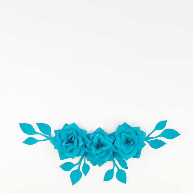 Płaskie świeckich Dekoracje Kwiatowe Z Białym Tłem Darmowe Zdjęcia