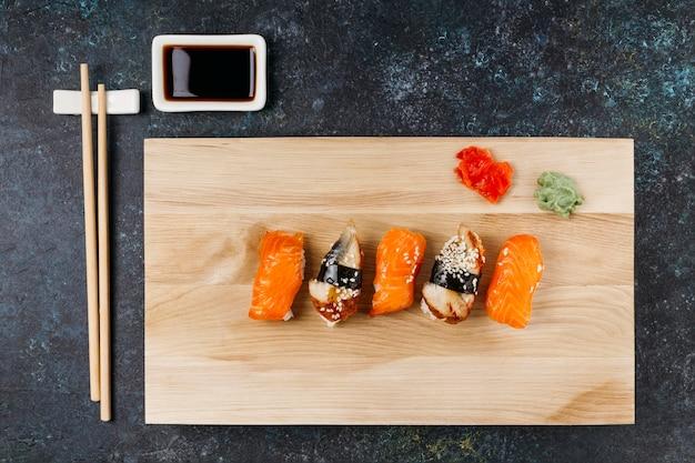 Płaskie Układanie Japońskiego Sushi Darmowe Zdjęcia