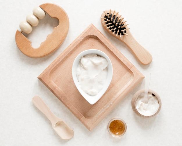 Płaskie Ukształtowanie Koncepcji Kosmetyków Naturalnych Darmowe Zdjęcia