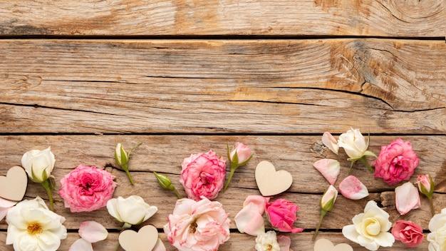 Płaskie Ukształtowanie Koncepcji Pięknych Walentynek Premium Zdjęcia
