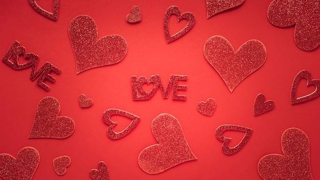 Płaskie Ukształtowanie Koncepcji Walentynek Darmowe Zdjęcia