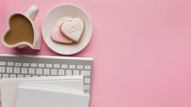 Płaskie Ukształtowanie Walentynki Z Miejsca Na Kopię Darmowe Zdjęcia