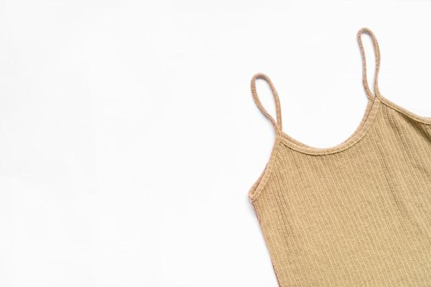 Płaskie Ukształtowanie Zestaw Ubrań I Akcesoriów Kobieta. Modny Mody żeński Tło. Premium Zdjęcia