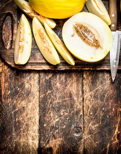 Plasterki świeżego Melona Premium Zdjęcia