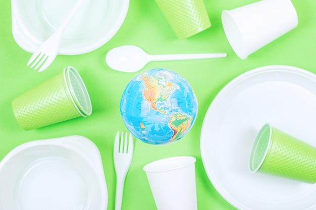 Plastik, Zanieczyszczenie, Ekologia, Recykling Koncepcji Premium Zdjęcia