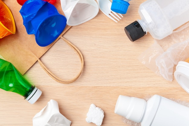 Plastikowa Rama Opakowania Premium Zdjęcia
