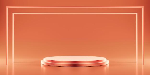 Platforma Z Różowego Złota Do Pokazywania Produktu Premium Zdjęcia