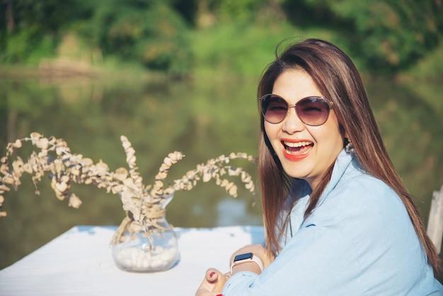 Plenerowego Portreta Azjatykcia Kobieta Darmowe Zdjęcia
