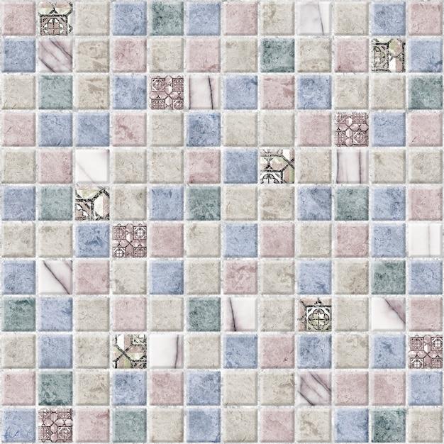 Płytki Dekoracyjne Z Fakturą Kamienia Naturalnego. Mozaika Do Aranżacji Wnętrz. Tekstura Tła Premium Zdjęcia