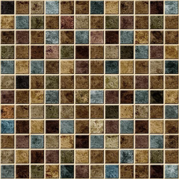 Płytki Dekoracyjne Z Fakturą Kamienia Naturalnego. Mozaika. Tekstura Tła Premium Zdjęcia