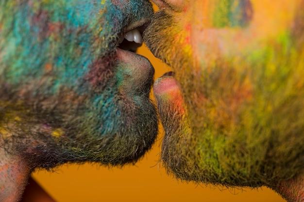 Pocałuj Brudną Parę Homoseksualną Darmowe Zdjęcia
