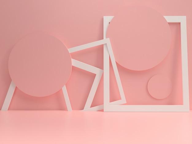 Podium pastelowy makieta szablon letni styl minimalny Premium Zdjęcia