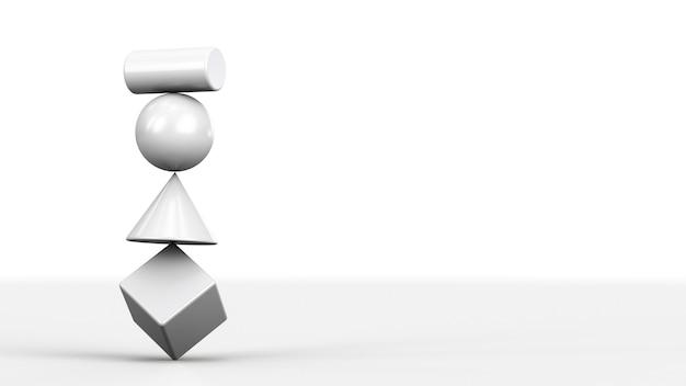 Pojęcie Niewiarygodnego Systemu. Równoważenie Figur Jedna Na Drugiej Premium Zdjęcia