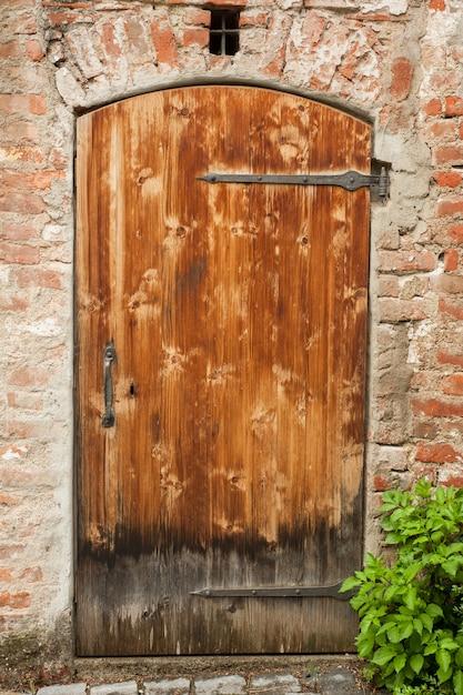 Pojedyncze Stare Drzwi, Wejście Premium Zdjęcia