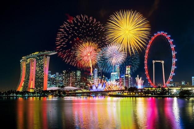 Pokaz Sztucznych Ogni W Singapurze. Darmowe Zdjęcia