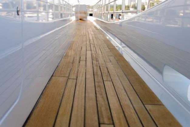 Pokład Z Drewna Tekowego Premium Zdjęcia