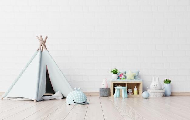 Pokój Zabaw Dla Dzieci Z Namiotem I Stołem, Lalka. Premium Zdjęcia