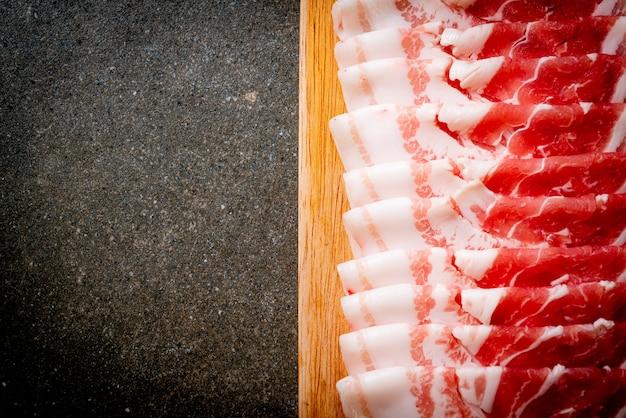 Pokrojony świeży Brzuch Wieprzowiny Premium Zdjęcia