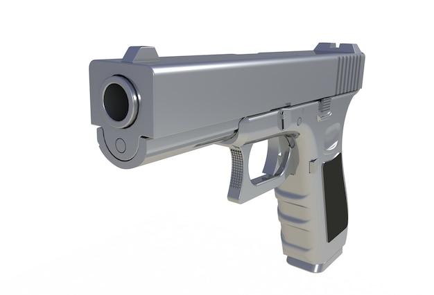 Półautomatyczny Pistolet Chromowy Premium Zdjęcia