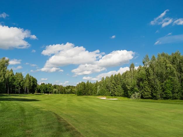 Pole golfowe na wsi Premium Zdjęcia