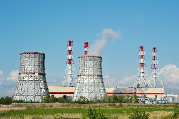 Południowo-zachodnia elektrownia cieplna w petersburgu, rosja Premium Zdjęcia