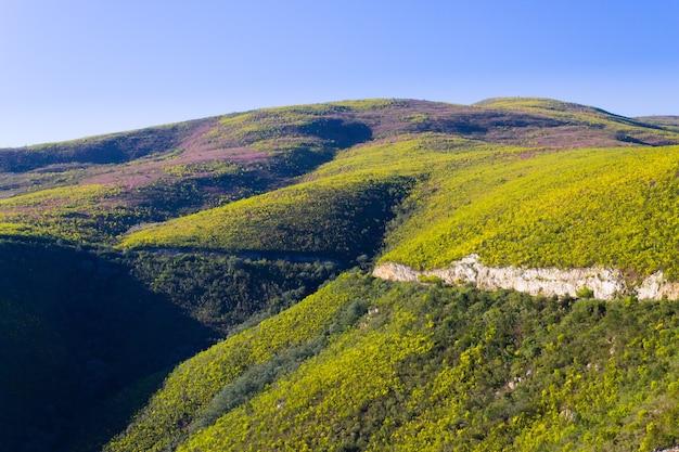Południowoafrykański Krajobraz Wzdłuż Drogi Z Karoo Do Franschhoek. Premium Zdjęcia
