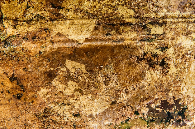 Pomarszczony złoty teksturowanej tło Darmowe Zdjęcia