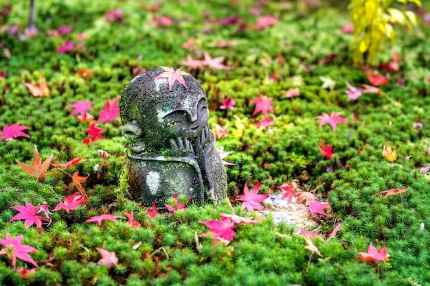 Pomnik W świątyni Enkoji Jesienią, Kioto, Japonia. Darmowe Zdjęcia