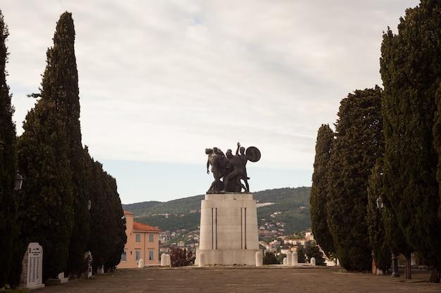 Pomnik Wojenny, Triest Premium Zdjęcia