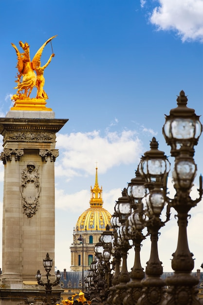 Pont Alexandre Iii W Paryżu We Francji Nad Sekwaną Premium Zdjęcia