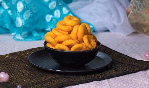 Pop Pierścienie Jedzenie Premium Zdjęcia