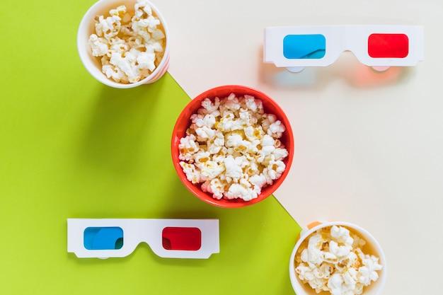 Popcorn i okulary 3d Darmowe Zdjęcia