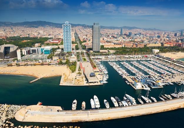Port Olimpic Z Helikoptera. Barcelona Darmowe Zdjęcia